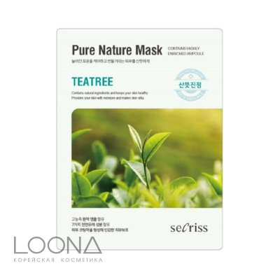 Маска для лица тканевая ANSKIN Secriss Pure Nature Mask Pack-Teatree 25мл