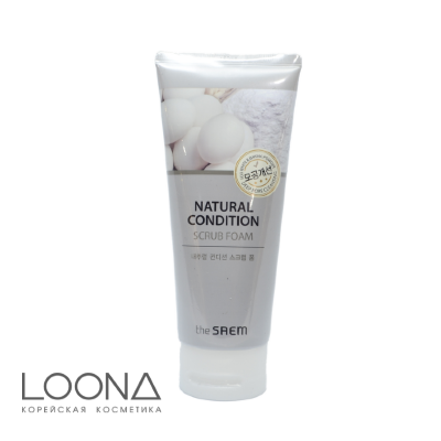 Пенка-скраб для лица The Saem Natural Condition Scrub Form [Deep Pore Controlling] 150мл