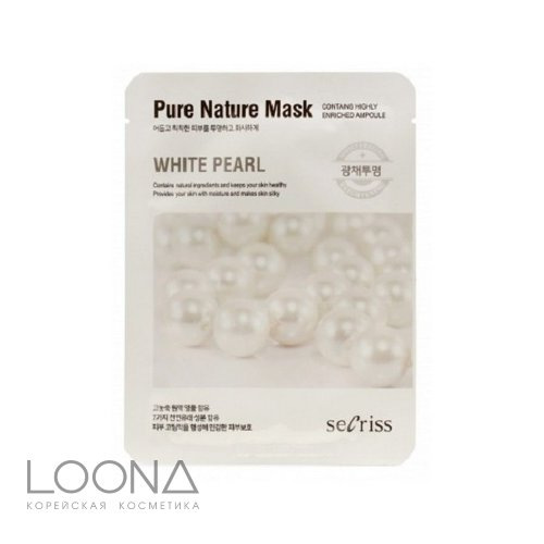 Маска для лица тканевая ANSKIN Secriss Pure Nature Mask Pack- White pearl 25мл