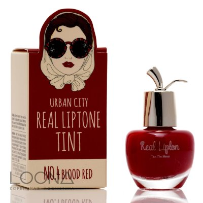 БХ Lip Тинт для губ 04 Urban City Real Liptone Tint 4.BLOOD RED 7гр
