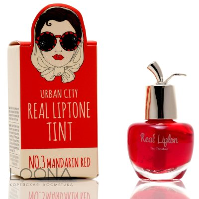 БХ Lip Тинт для губ 03 Urban City Real Liptone Tint 3.MANDARIN RED 7гр
