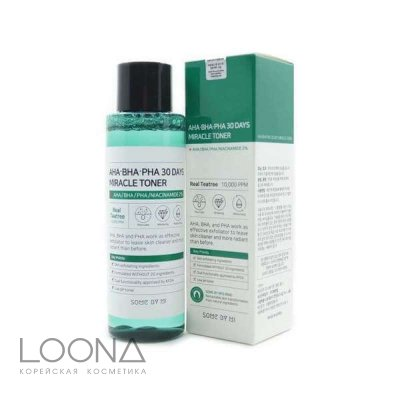Тонер с кислотами SOME BY MI AHA-BHA-PHA 30DAYS MIRACLE TONER (150 мл)