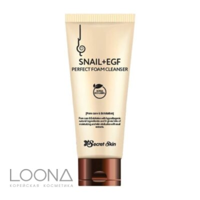 Пенка для лица SECRETSKIN SNAIL+EGF PERFECT FOAM CLEANSER 100мл