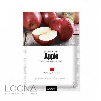 Тканевая маска COS.W My Real Skin Apple Facial Mask (23 мл)