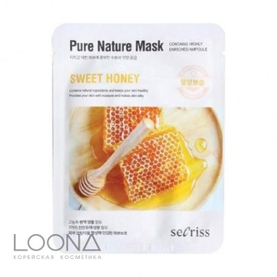 Маска для лица тканевая ANSKIN Secriss Pure Nature Mask Pack-Sweet honey 25мл